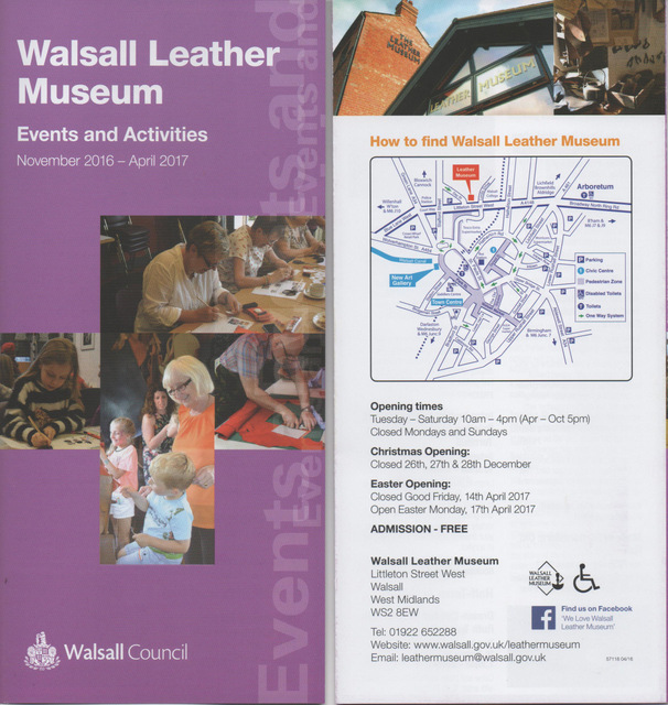 Walsall Leather Museum Leaflet