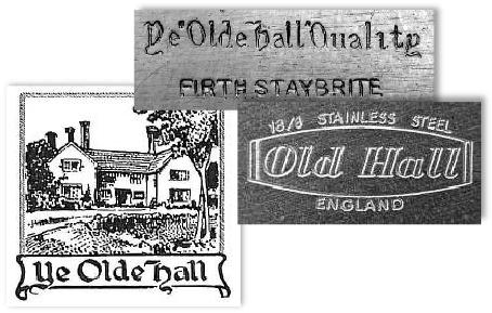 Olde Hall and Old Hall Backstamps