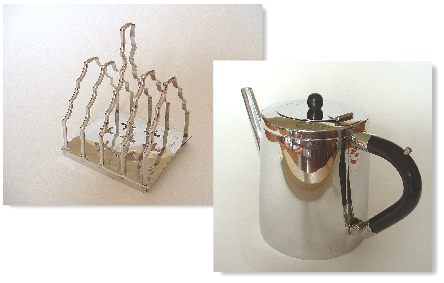 First teapot and toastrack